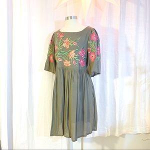VARUN BAHL Aika Embroidered Dress L